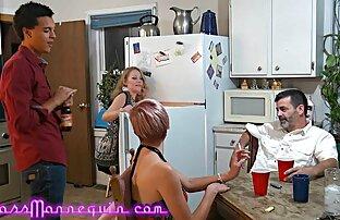 Gammal, sexfilm lesbisk med männen i köket